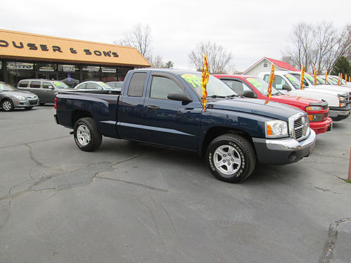 2005 DODGE DAKOTA SLT Ex-Cab 4dr 2WD 6cyl auto all power nice and clean 103k mi DD05 7990 H