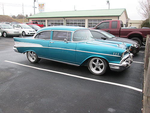 1957 CHEVY BELAIR 383 Stroker mtr 4sp full frame off restoration with half car nice and very fast