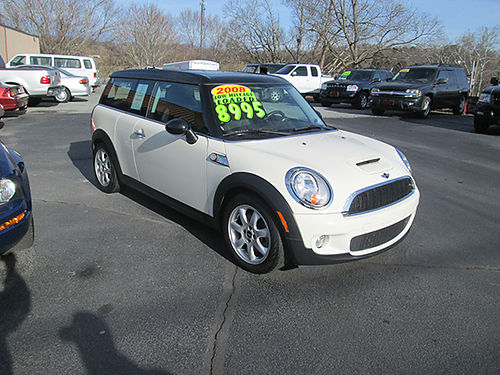 2008 MINI COOPER S Clubman 5sp dual sunroof 61k miles 08MCS Priced to sell 8995 HOUSER  SONS