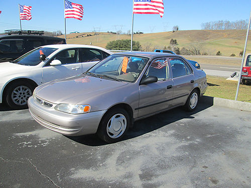 1999 TOYOTA COROLLA LE great gas mileage 411a 1975 MR DS AUTOMOTIVE Piney Flats TN