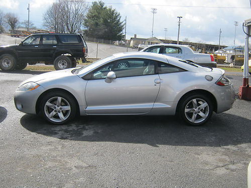 2007 MITSUBISHI ECLIPSE silver sunroof alloys v6 5sp pw pl cd 109k 1880 4995 LEWIS USED CA