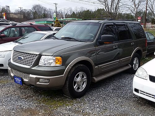 2003 FORD EXPEDITION Eddie Bauer Edition 3rd row leather 0349 4995 JJ AUTO SALES Kingsport T