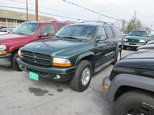 2001 DODGE DURANGO v8 auto 4WD leather all power cd keyless entry alloys 232k 19469 3200 A