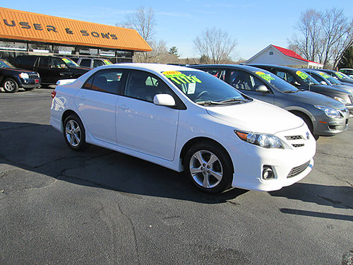 2013 TOYOTA COROLLA S auto all power cd alloys 52000 miles 1 owner nice T513 11750 HOUSER