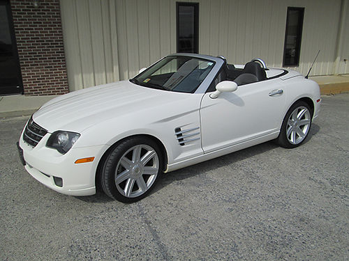2005 CHRYSLER CROSSFIRE Limited convertible white V6 auto air tilt cruise loaded only 23K m