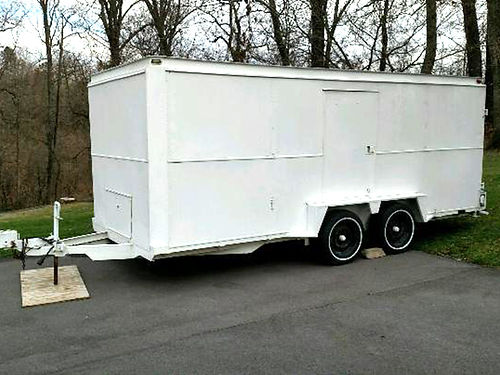 BOX TRAILER 16Lx7Wx6T double axle can be used as car hauler side entrance rear entrance for u