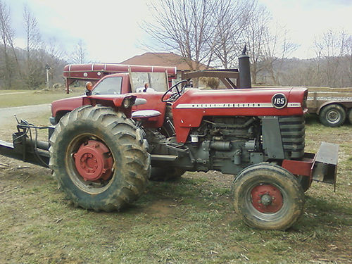 1972 MASSEY FERGUSON tractor Model 165 2wd 42hp diesel 4 speed with lowhigh range 3 pt hitch