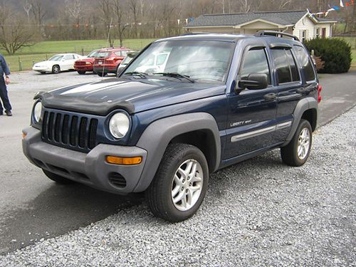 2003 JEEP LIBERTY Sport blue 4x4 V8 auto pw pl CD tilt cruise exc cond 5451 REDUCED 499