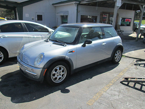 2002 MINI COOPER 4 cyl 5 sp silver black leather all power 2 dr cassCD sunroof 18977 4400
