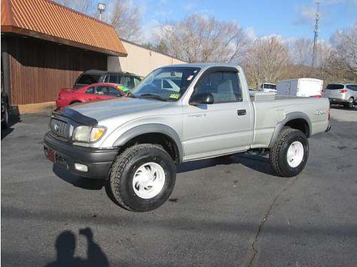 2002 TOYOTA TACOMA 4x4 4 cyl 5 sp air short bed custom wheels new tires runs great local tra
