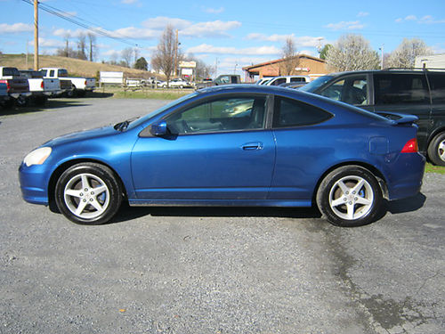 2003 ACURA RSX TYPE S blue pwr sunroof 6spd air all pwr cd leather 1110 4295 JIMS 11E AUT