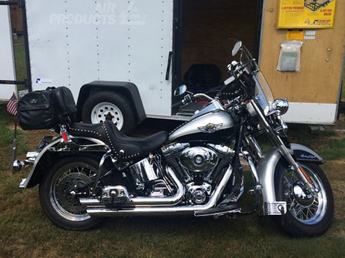 2003 HARLEY HERITAGE Softail 100yr Anniversary Perfect Weekend Getaway Trailer  Bike Tow in the