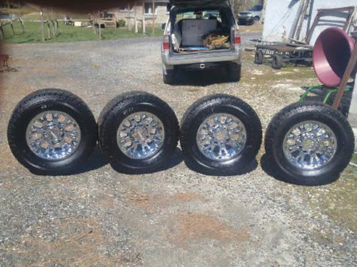 TIRES  WHEELS 4 Moto Metal wheels 18 AT tires almost new fits 2004  other model Ford F-250 E