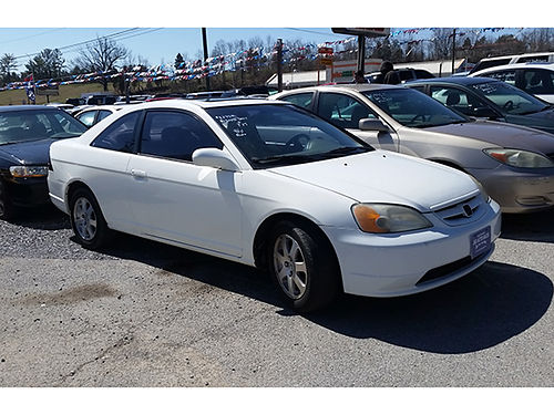 2001 HONDA CIVIC sunroof 4cyl auto 3697 4395 JJ AUTO SALES Kingsport TN