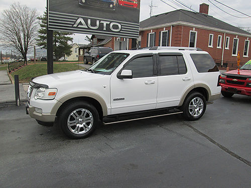2007 FORD EXPLORER EddieBauer 4x4 v8 heated leather power 3rd row seating sunroof fully loaded