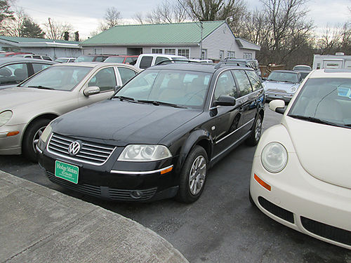 2003 VW PASSAT 4cyl auto black leather all power hatchback air cd alloys GC 193k 19468X 3