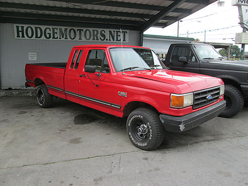 1987 FORD F150 v8 auto red all power 2dr amfm Alloy wheels Good truck 18666 3600 ALLEN H