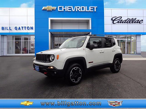 2016 JEEP RENEGADE TRAILHAWK 4cyl 4x4 auto alloys pw pl 12k 51961-P 20999 BILL GATTON Bris