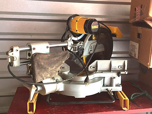 SAW 12 Compound sliding miter saw with stand  very good condition asking 275 276-791-8919