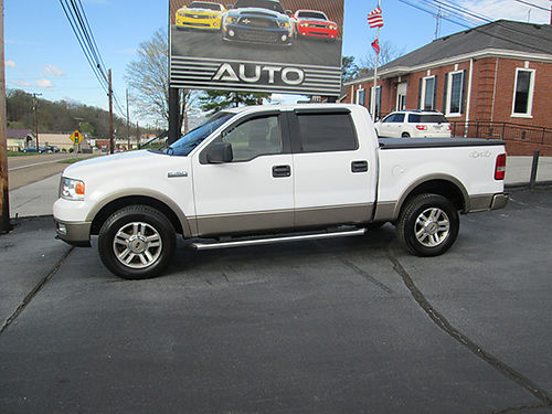 2005 FORD F150 Super Crew Lariat 4X4 leather all pwr hard bed cover new michelin tires extra ni