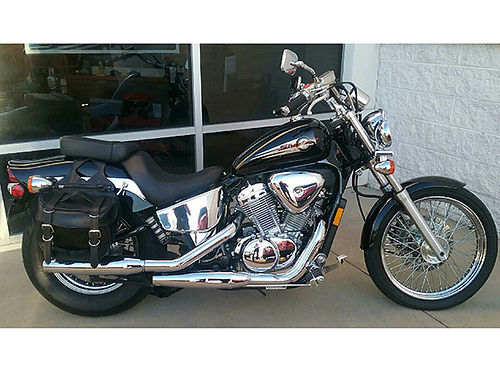 2001 HONDA SHADOW saddlebags chromed out 8K miles excellent condition 2250 423-268-5354