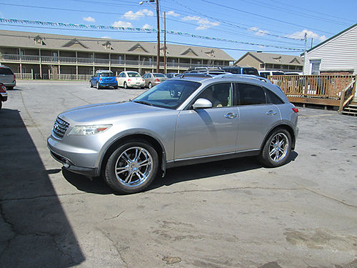 2004 INFINITI FX35 AWD v6 auto leather all power 4dr air cd keyless entry sunroof new tires