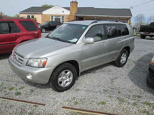 2004 TOYOTA HIGHLANDER AWD auto air cd 8746 7995 Motor Mile Motors
