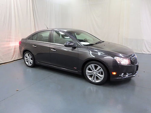 2014 CHEVY CRUZE LTZ charcoal 4dr keyless entry auto loaded pw pl cd leather 64584UA 1298