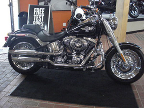 2013 HARLEY DAVIDSON FLSTF Softail Fat Boy Vivid Black this classic motorcycle is ready for the ro