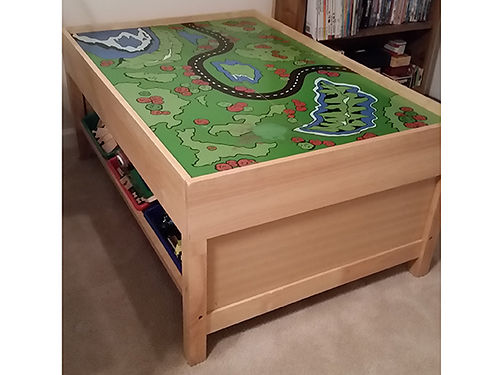 PLAY TABLE for trains cars or whatever your childs imagination suggests Ready for hours of fun 6