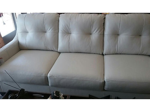 SOFA white leather brand new Ashley brand couch 599 423-207-6676