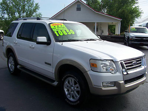 2006 FORD EXPLORER Eddie Bauer 4x4 40L 6cyl leather proof 3rd row seating fully loaded 83k l