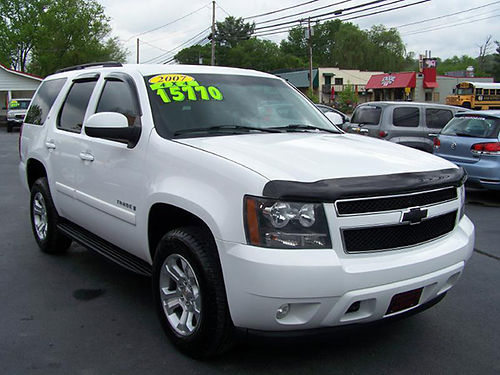 2007 CHEVY TAHOE LT 4x4 53 v8 cloth int full power tow pkg new tires clean SUV 138k warr av