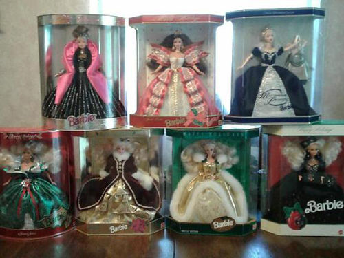 BARBIE COLLECTION Happy Holiday 1991 1994 1995 1997 1998 1999 all new in box call for info 42