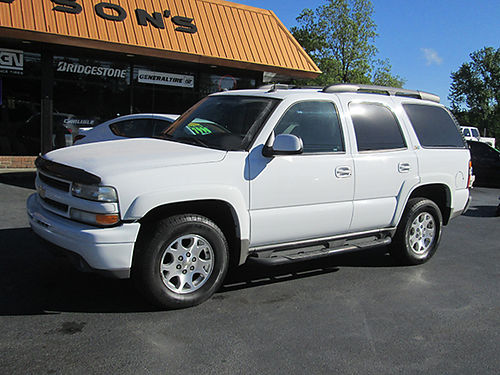 2004 CHEVY TAHOE Z71 4WD 53 v8 auto 3rd row Alloys step bar loaded leather 04CT 7995 HOUSE