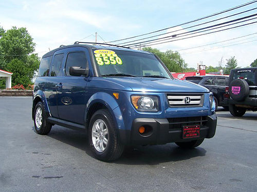 2007 HONDA ELEMENT EX AWD auto all power alloys new tires moonroof loaded 128k miles Clean