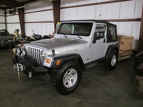 2004 JEEP WRANGLER RUBICON 4x4 softop new winch custom wheels  tires Looks great 13995 423-32