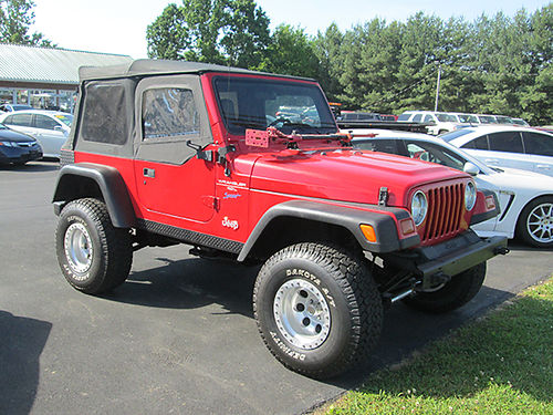 1997 JEEP WRANGLER Inline 6 5sp lift new tires softop 1400 Was 9900 Now 8900 LIGHTNING AUTO