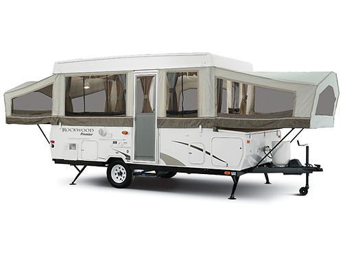2007 ROCKWOOD by Forrest River pop-up camper automatic up and down 10 box sleeps 6 or more heat