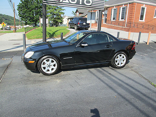2003 SLK 230 ROADSTER hardtop convertible leather fully loaded new tires Sharp SL03 7880 HOU