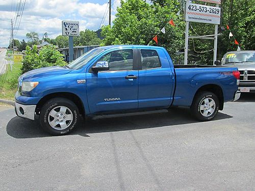 2008 TOYOTA TUNDRA Ext cab 4x4 4dr v8 auto air alloys cd  more 1611 17995 VOLUNTEER MOTOR