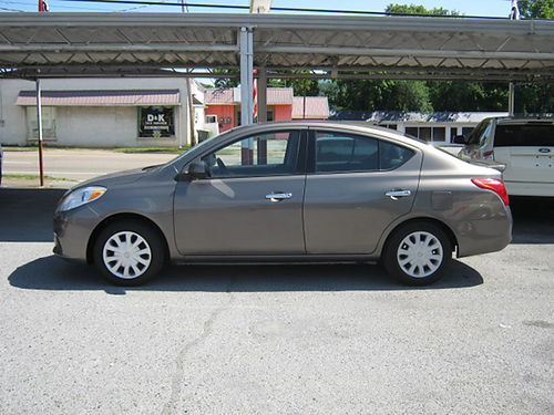 2014 NISSAN VERSA SV grey 4dr alloys 4cyl auto pw pl cd spoiler 0527 Now 7995 LEWIS USED