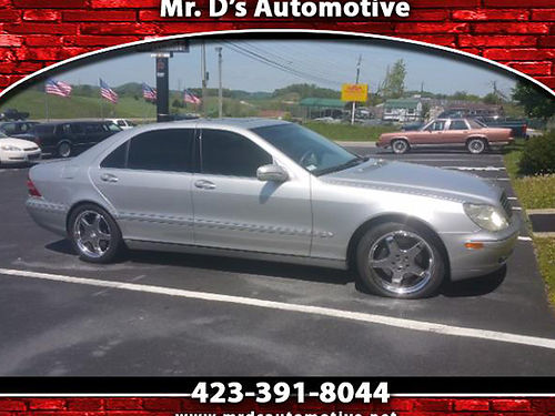 2000 MERCEDES BENZ S500 109k miles loaded clean BR1 6995 MR DS AUTOMOTIVE Piney Flats TN