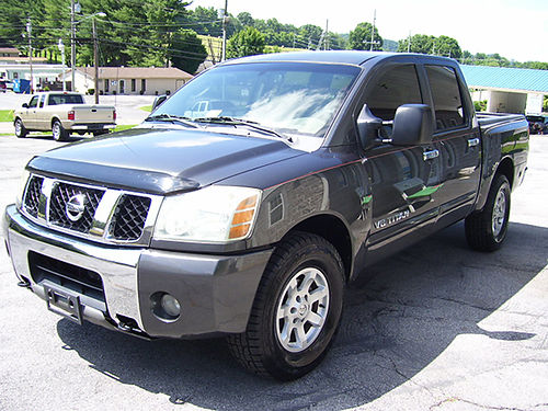 2006 NISSAN TITAN 4X4 Crew Cab charcoal 4dr keyless entry v8 auto Loaded Super nice new tires