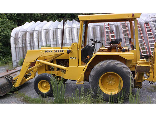 JOHN DEERE 310A tractorloaderbackhoe This backhoe belonged to a municipality  has been well main