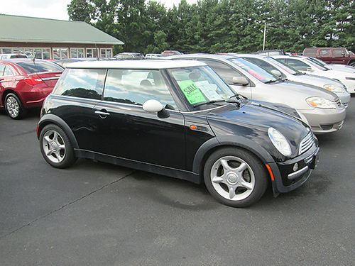 2003 MINI COOPER 5sp all power local trade only 58k miles 48098 Was 7900 Now 6900 LIGHTNING