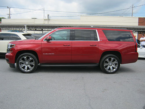 2015 CHEVY SUBURBAN LT maroon 3rd row 22 wheels 4dr 4x4 psunroof keyless entry v8 auto loa