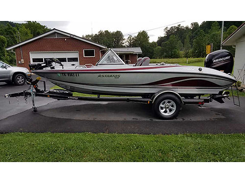 2016 STRATOS FISH  SKI 19 150hp Mercury 4-stroke SS prop trolling motor deepwell fish-finder