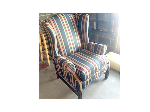 CHAIRS 2 Wing Back recently covered never sat on excellent condition 60 each or 100 both 423-