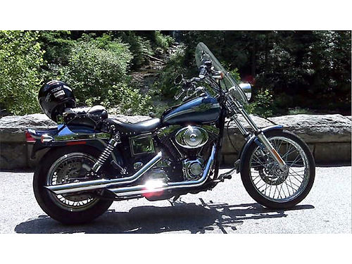 2003 HARLEY DAVIDSON 100TH Anniversary Wide Glide new tires 2nd owner Mustang seat extra pipes
